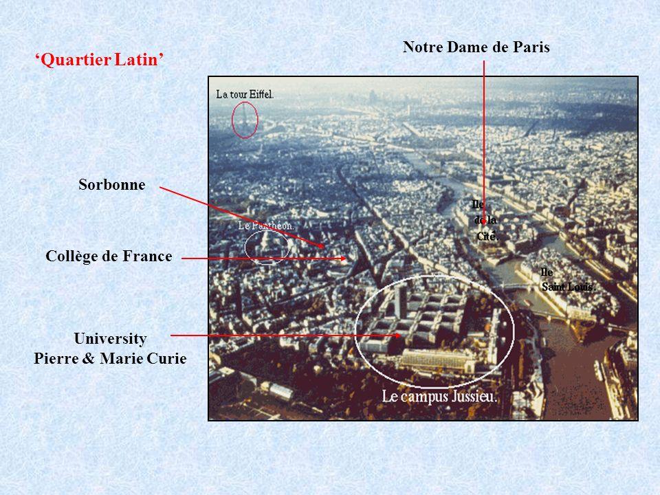 'Quartier Latin' Notre Dame de Paris Sorbonne Collège de France