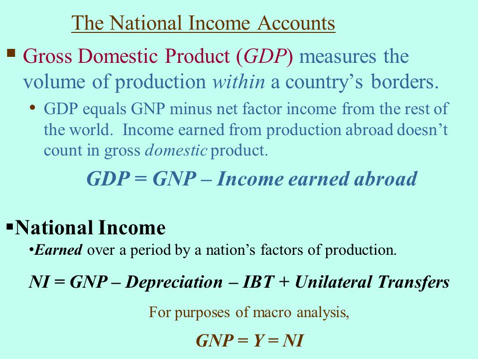 The National Income Accounts