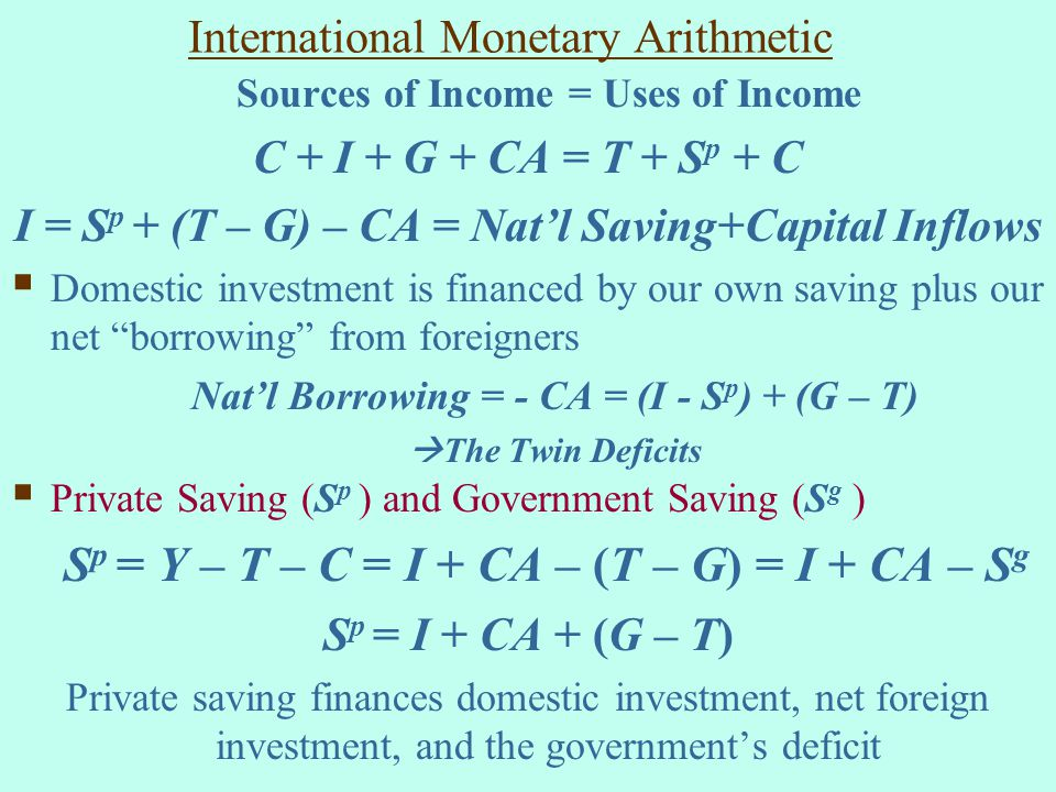 International Monetary Arithmetic