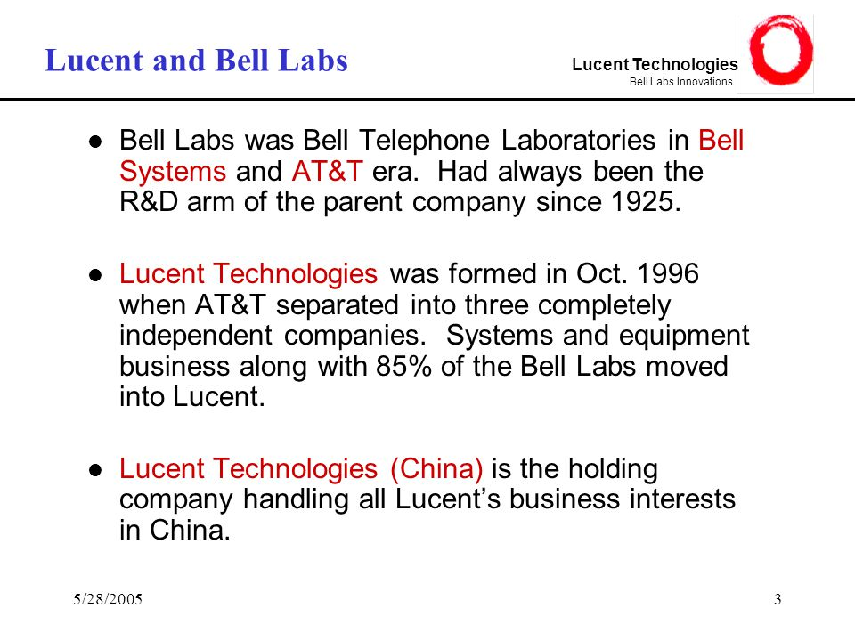A look at lucent technologies bell labs innovations