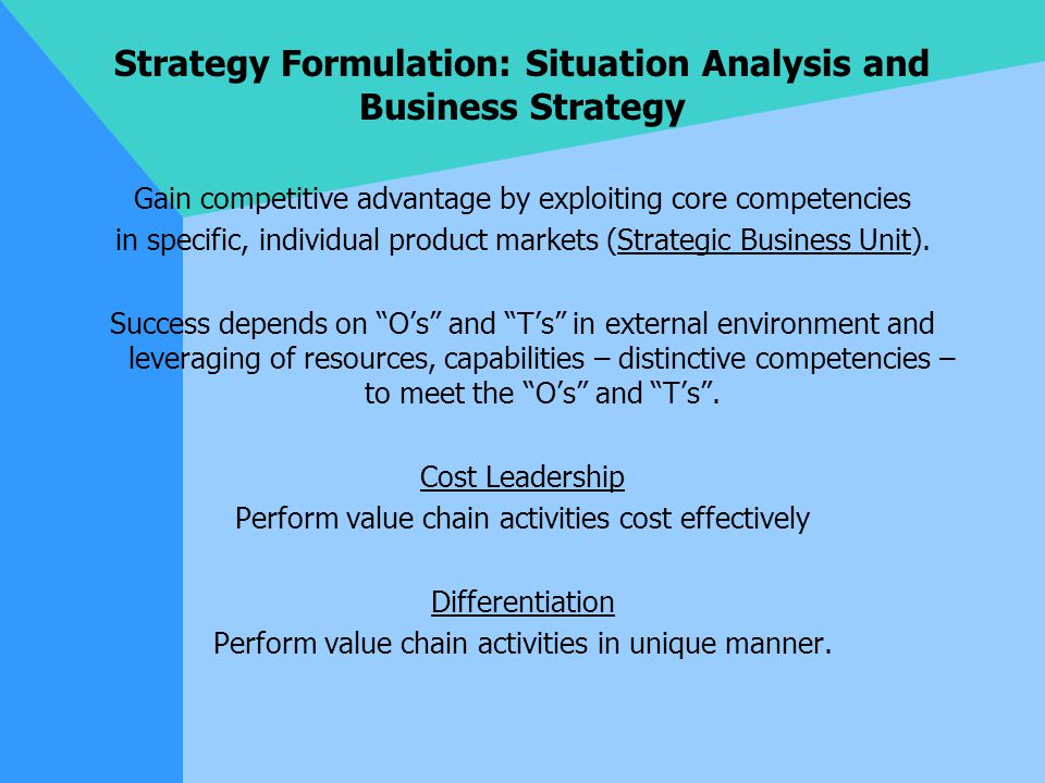strategy formulation Strategy formulation as a group decision process 53 introduction 53 some properties of the strategy formulation process 53 621 the orientation phase 54.
