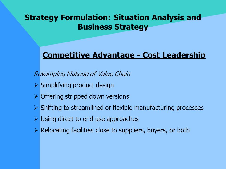 Approaches to strategy formation