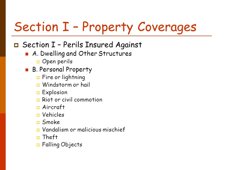 Homeowners Insurance Personal Property Coverage B