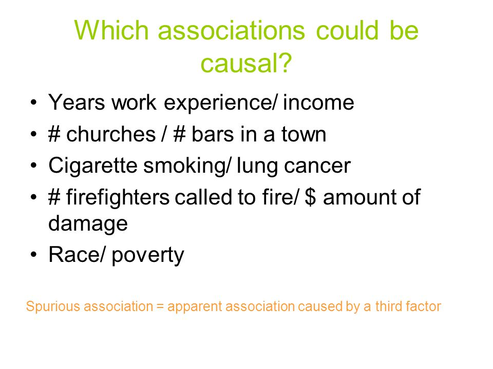 Which associations could be causal