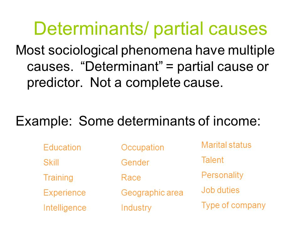 Determinants/ partial causes
