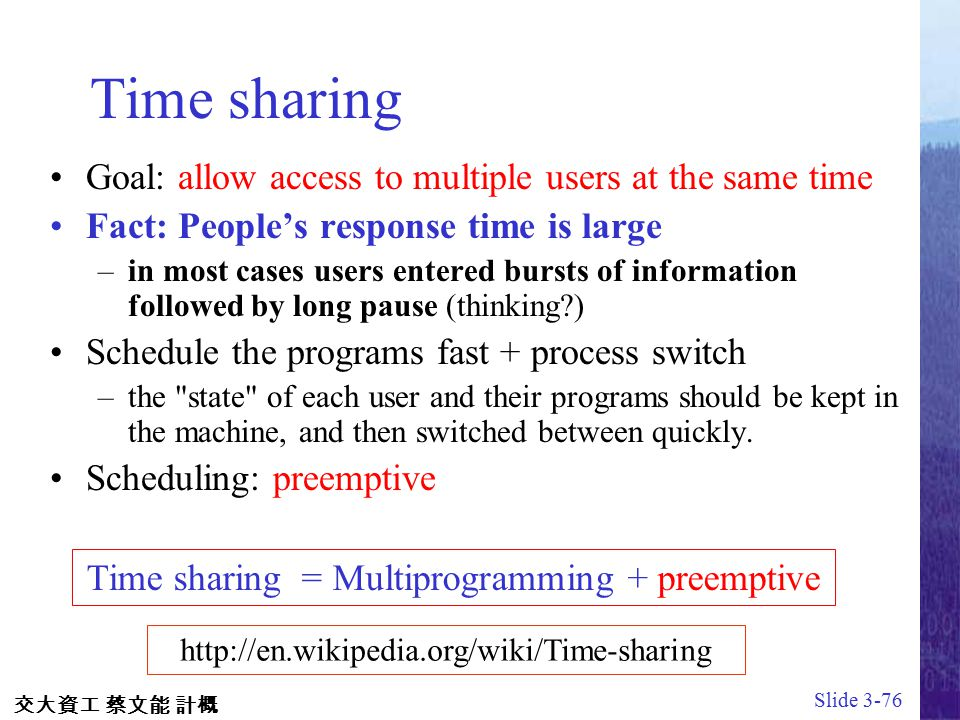 multiprogramming and time sharing What is multiprogramming what is time sharing what is time quantum the above questions are answered in this video.