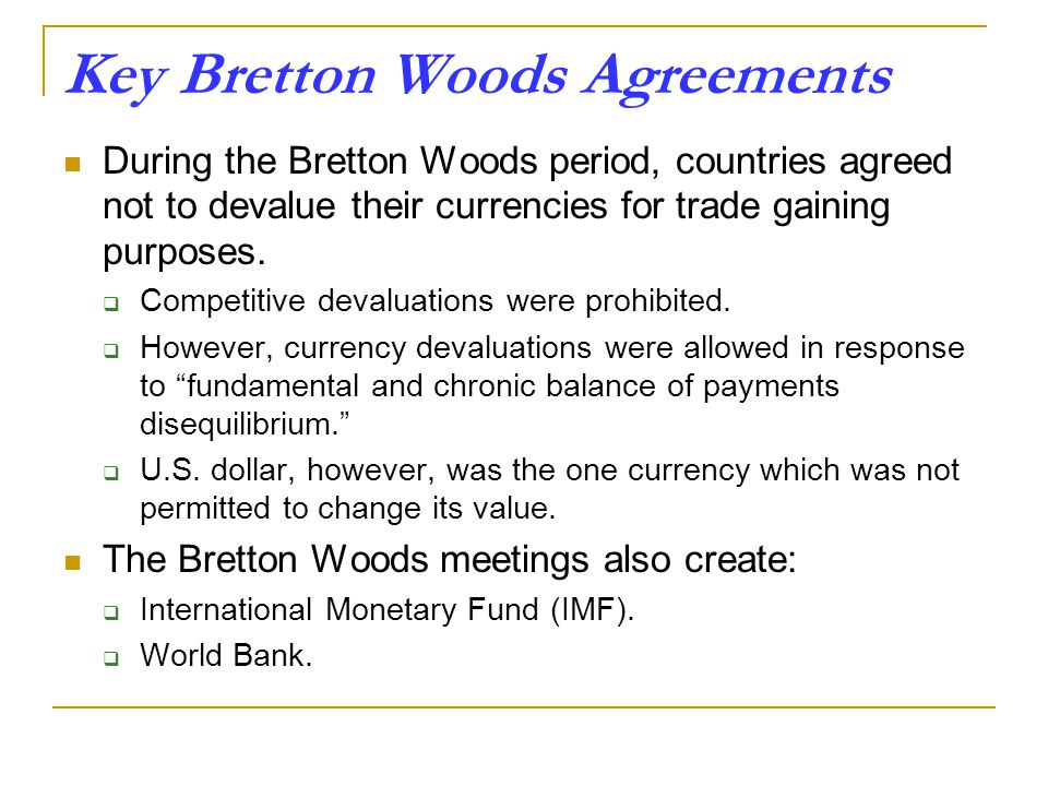 an analysis of the international financial system and the bretton woods agreements Full-text paper (pdf): towards a new bretton woods the first g20 leaders summit and the regulation of global finance.