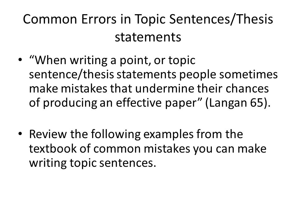 common thesis problems Thesis exercises what a thesis is not the many unforeseen problems i encountered when i went camping are the topic of this theme i encountered many unforeseen problems when i went camping common sense is sometimes the enemy of genius.