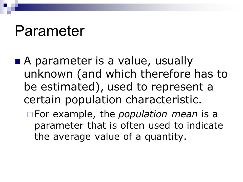 how to find population parameter