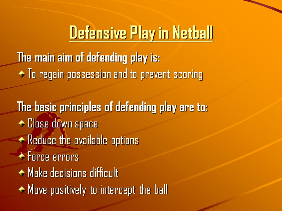 Defensive Play in Netball