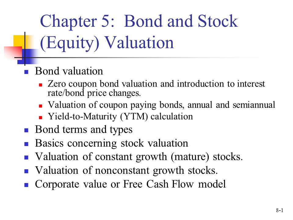 chapter 5 bond and stock equity valuation ppt video online download. Black Bedroom Furniture Sets. Home Design Ideas