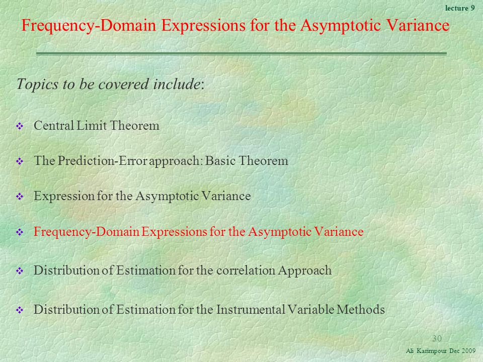 Frequency-Domain Expressions for the Asymptotic Variance