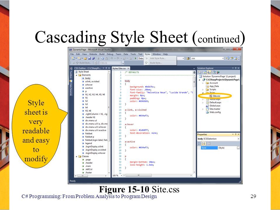 Cascading Style Sheet (continued)
