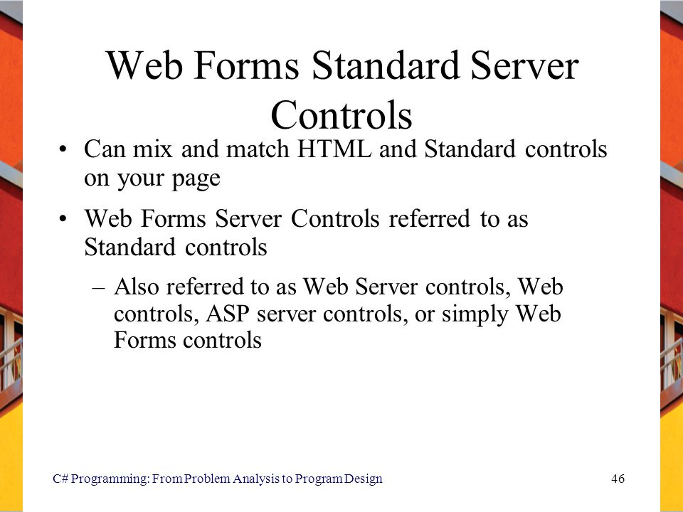 Web Forms Standard Server Controls