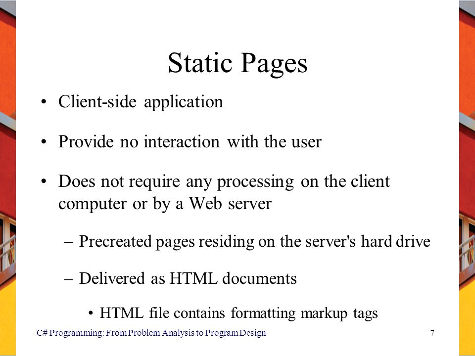 Static Pages Client-side application