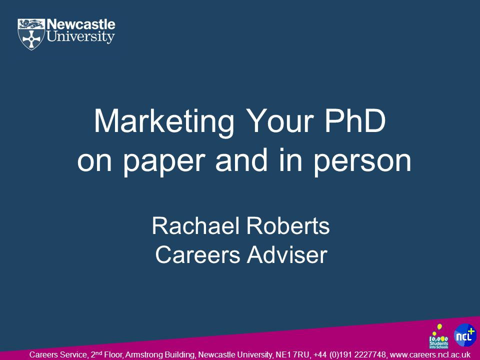 Marketing Your PhD on paper and in person