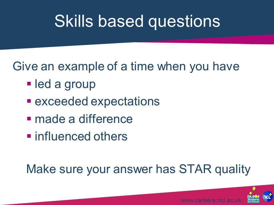 Skills based questions