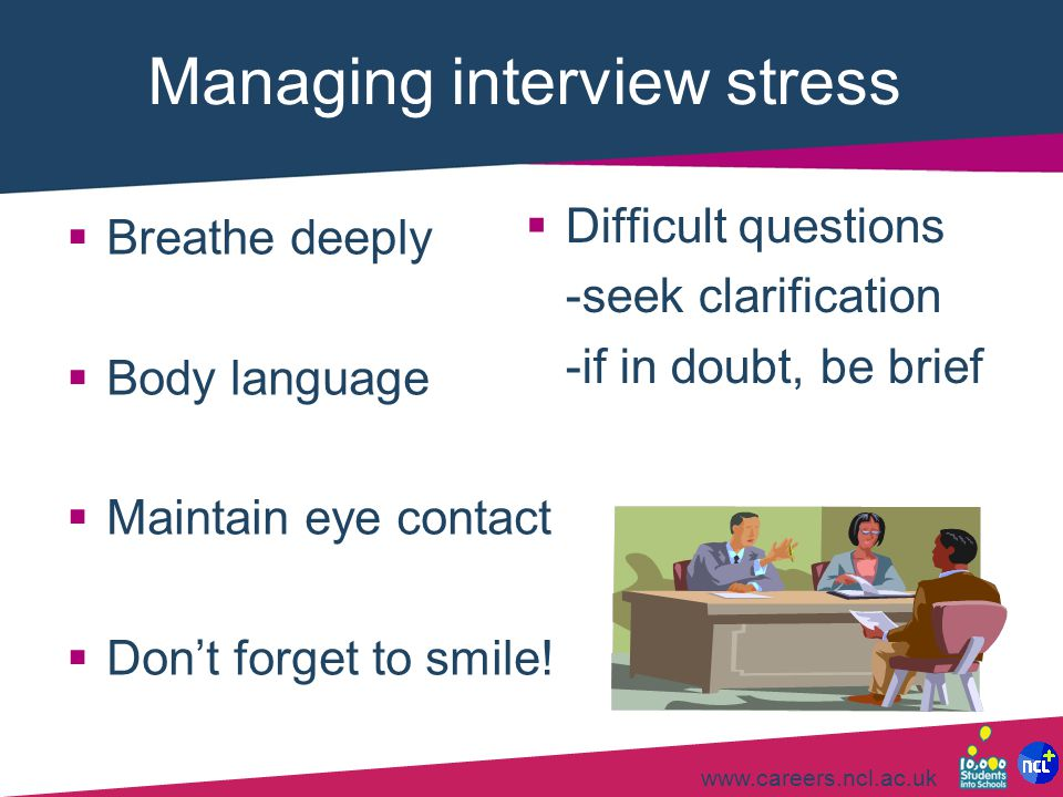 Managing interview stress