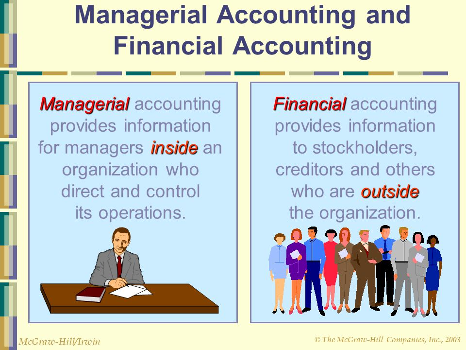 Managerial Accounting and Financial Accounting