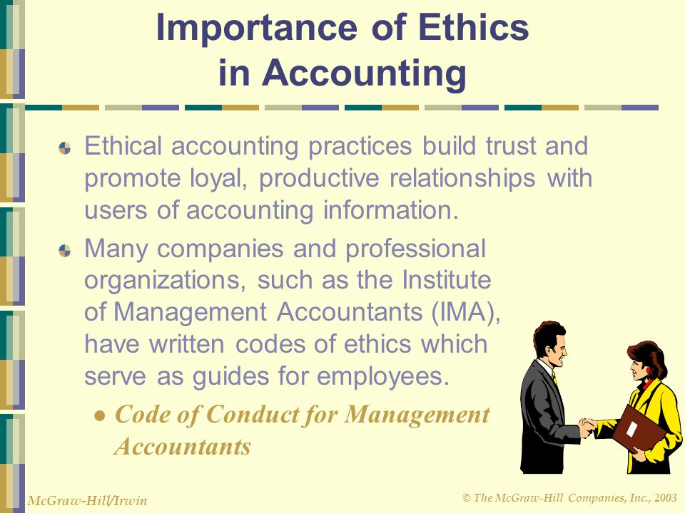the importance of ethics in accounting
