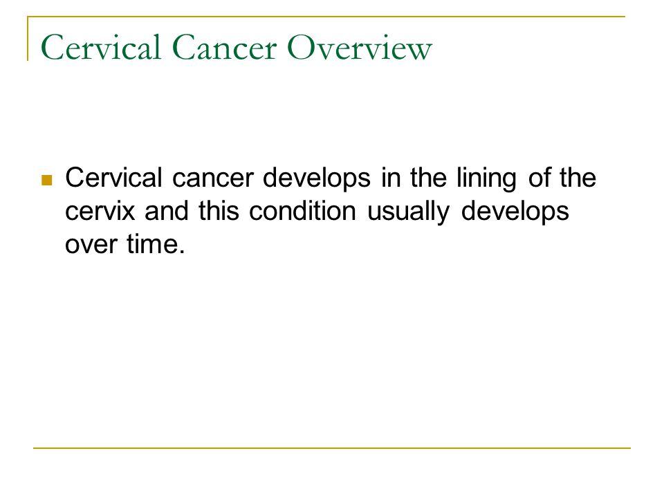 risk factors for cervical cancer pdf
