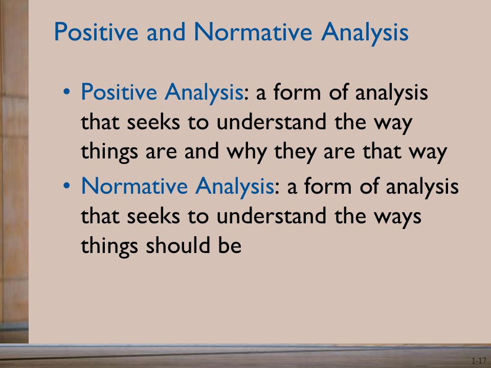positive and normative economics pdf