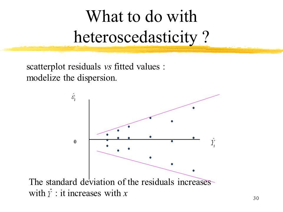 What to do with heteroscedasticity