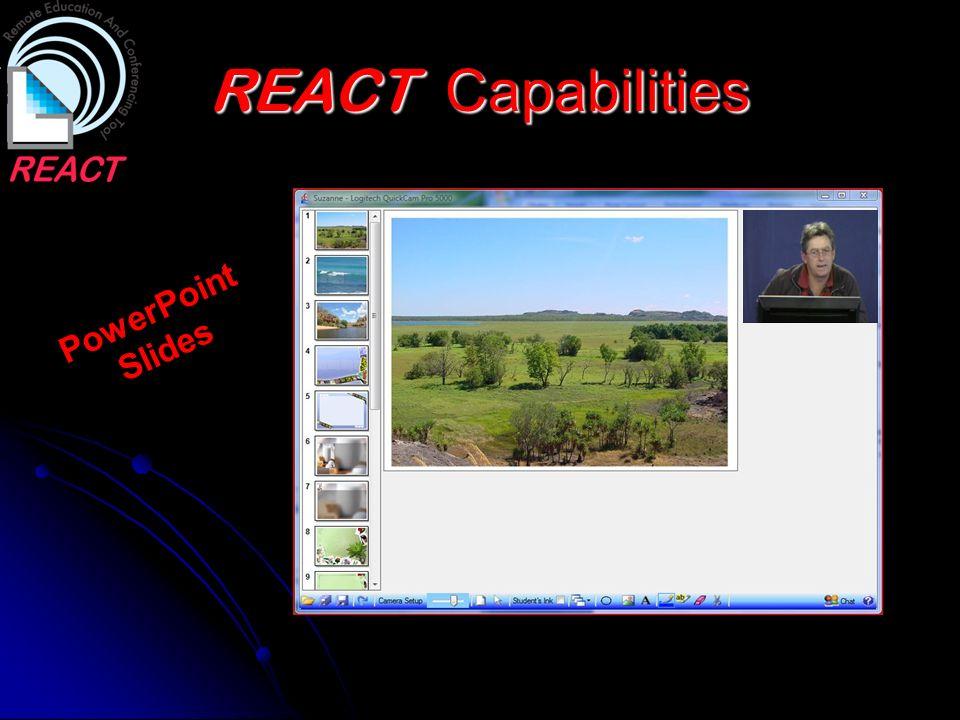 REACT Capabilities PowerPoint Slides