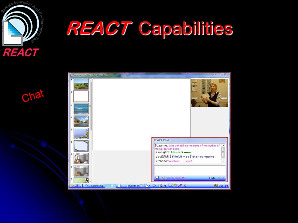 REACT Capabilities Chat
