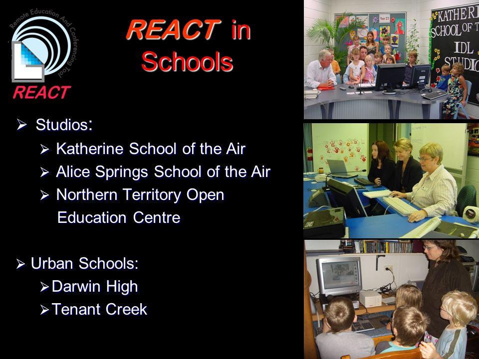 REACT in Schools Studios: Katherine School of the Air