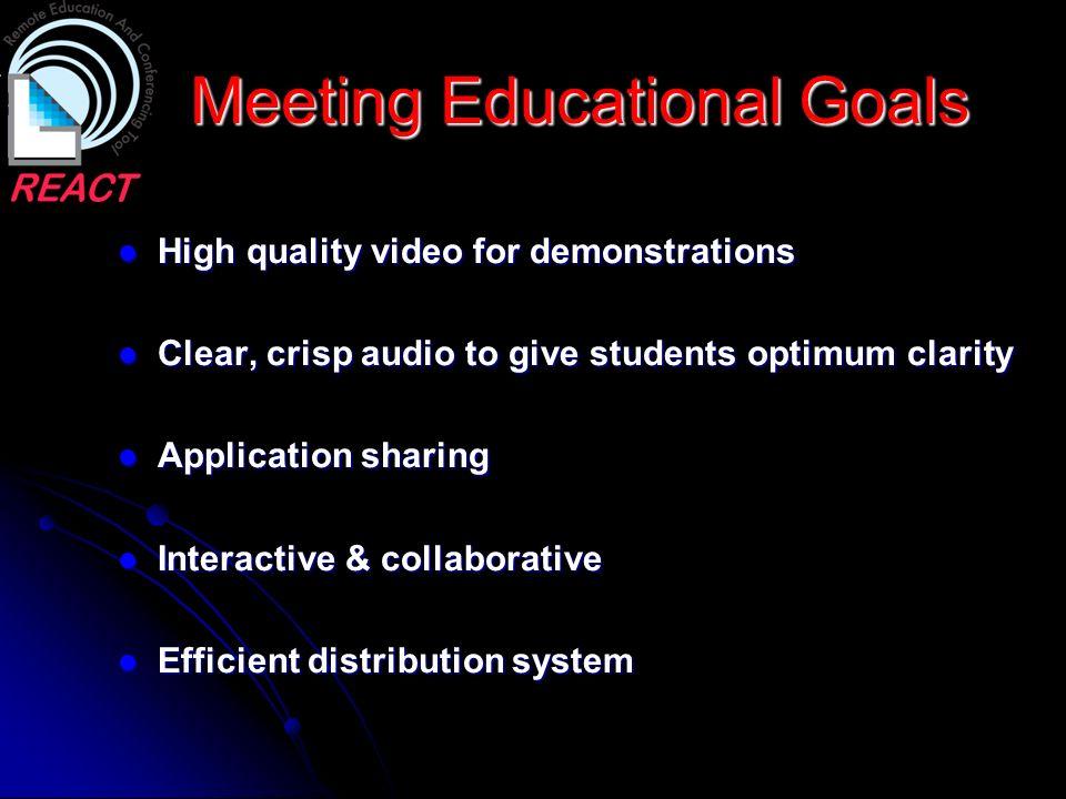Meeting Educational Goals