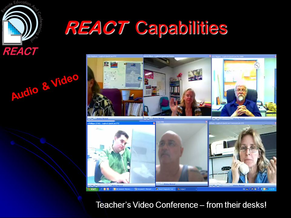 REACT Capabilities Audio & Video