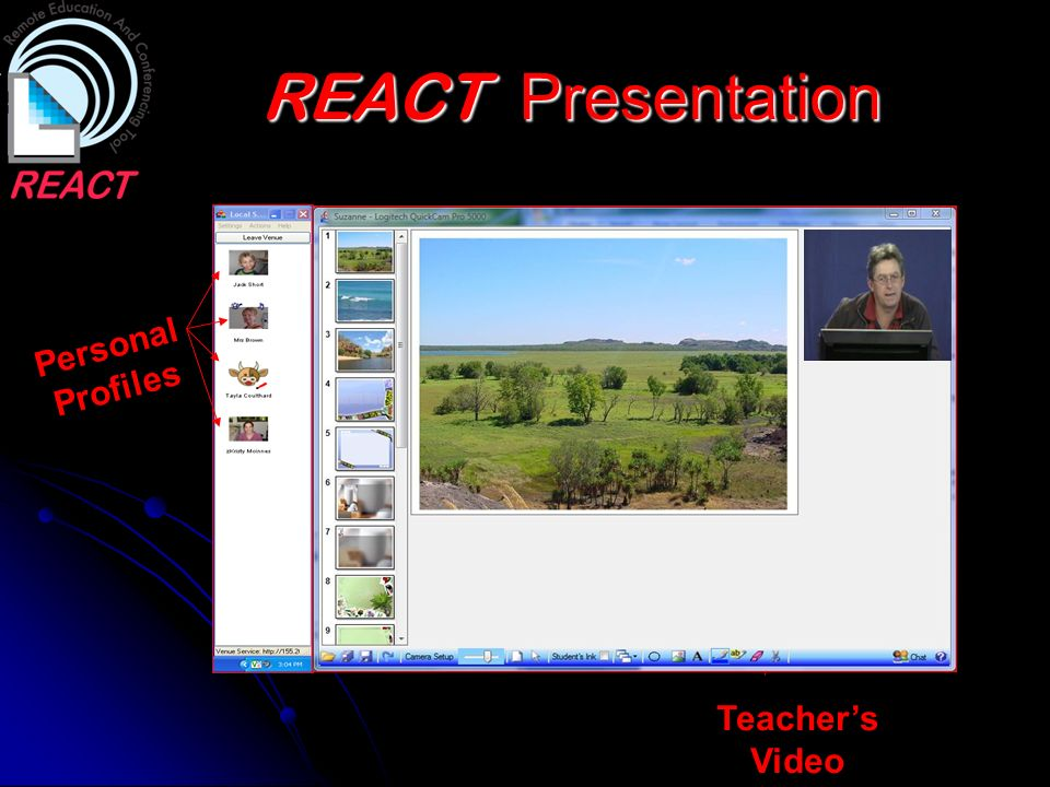 REACT Presentation Personal Profiles Teacher's Video