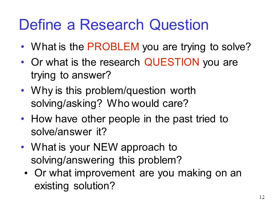Define a Research Question