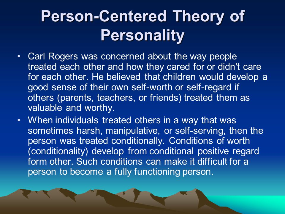 self theory of personality pdf