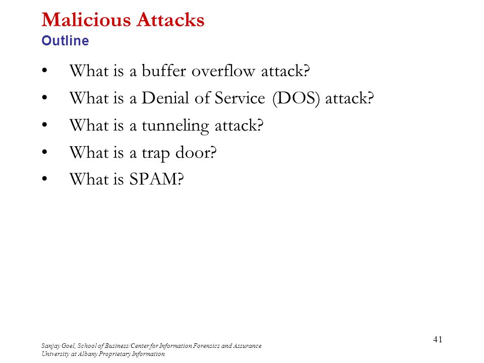 malicious attacks What is non malicious attacks definition of non malicious attacks: image conventional handling that changes the pixels but not the cognitive content.