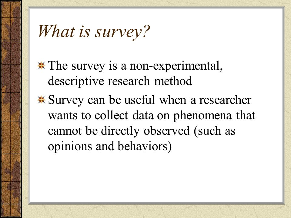What are descriptive research methods