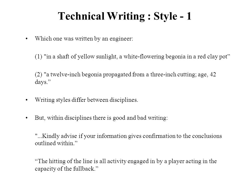 bad technical writing examples Technical writing is not easy it demands a set of particular skills and specific  knowledge if you are on your way becoming a technical writer,.