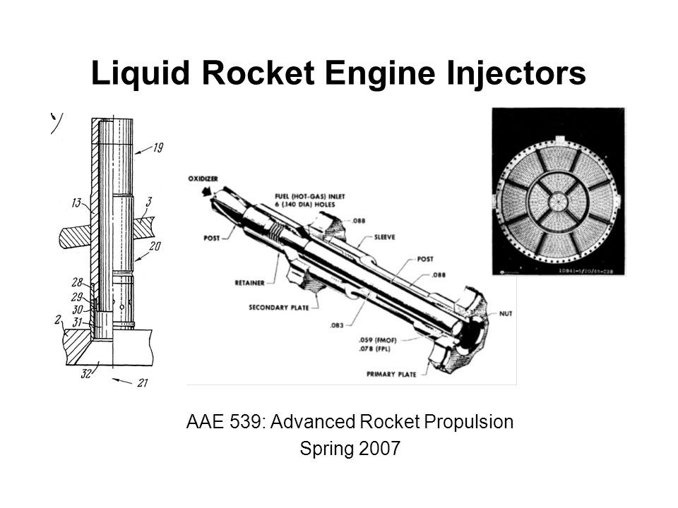 liquid rocket engine injectors