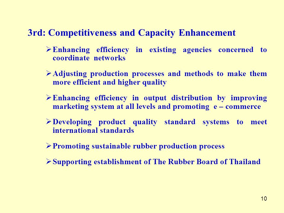 3rd: Competitiveness and Capacity Enhancement