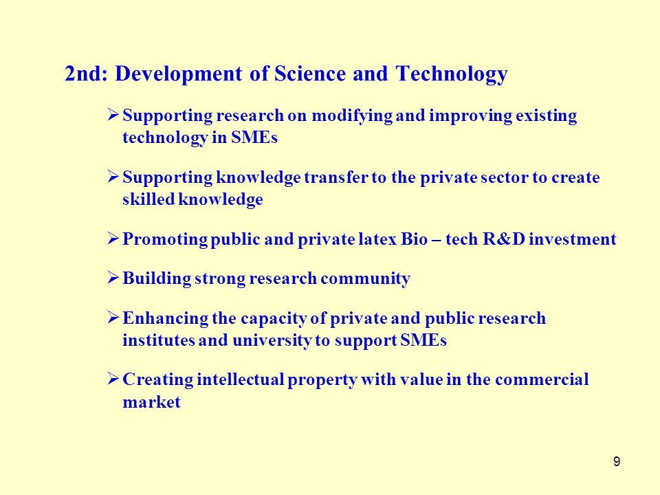 2nd: Development of Science and Technology