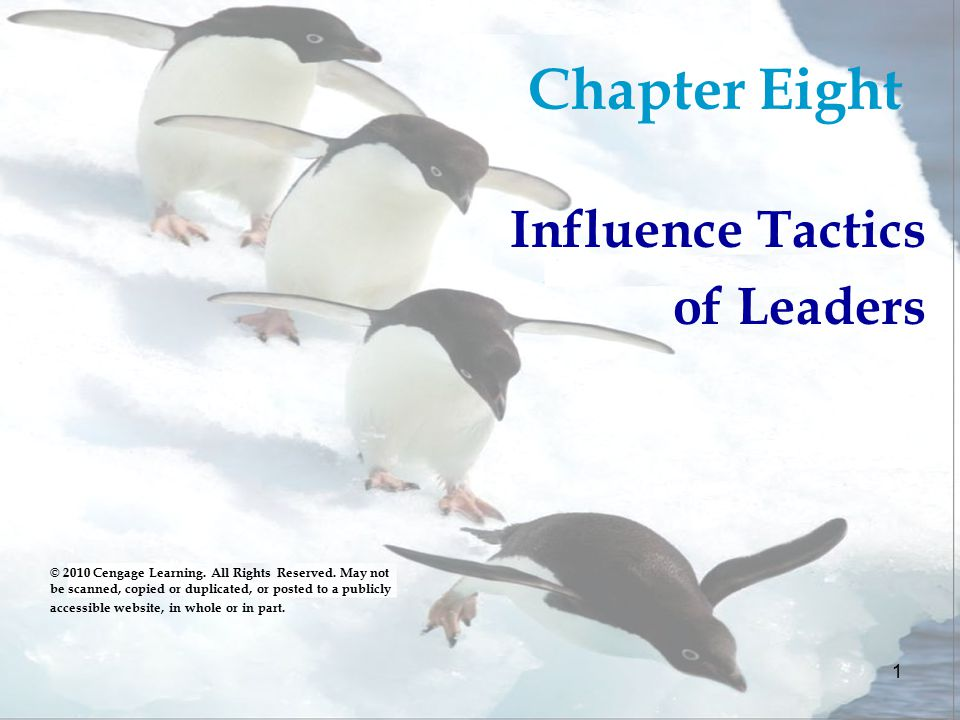 influence tactics of leaders Influence tactics and coworker helping behavior 2 do leaders' influence tactics relate to members' cooperative behaviors it depends on the quality of the relationship.