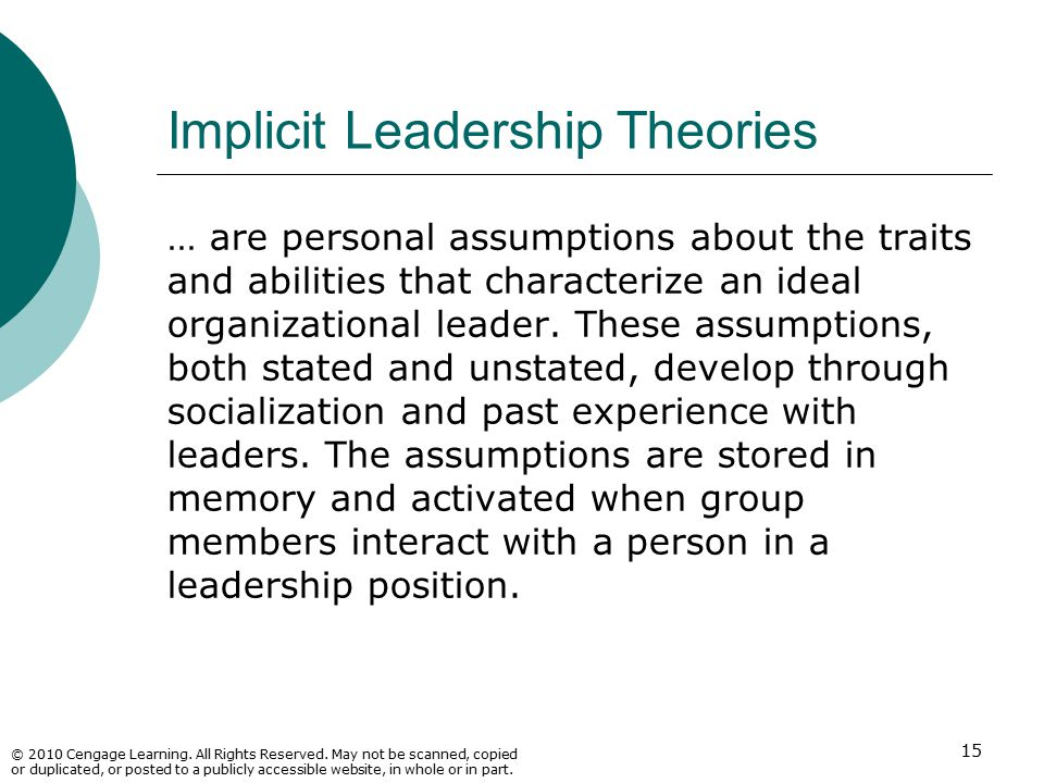 Implicit Leadership Theories