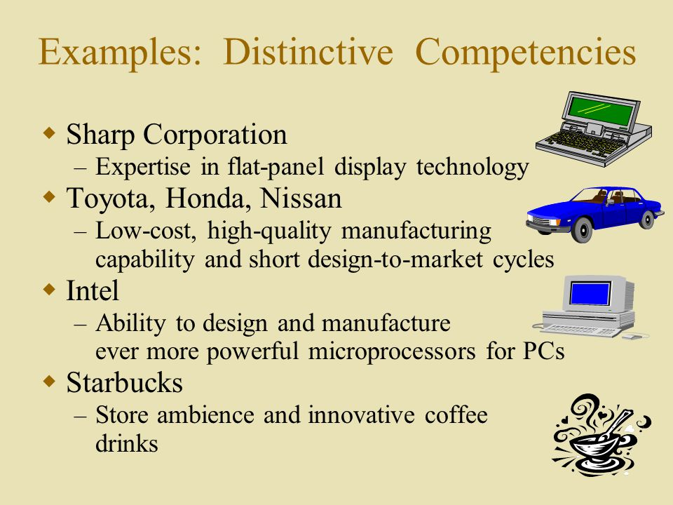 starbucks distinctive competencies Case analysis on starbucks and nike's brand value co-creation   instagram's most distinctive feature is the photo filter, a digital layer that, when   brand personalities (sincerity, excitement, competence, sophistication, and.