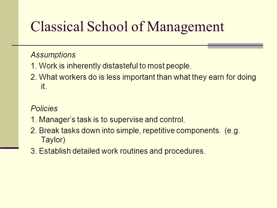 classical school of management Classical school of criminology classical criminology beccaria a more rational approach to punishment utilitarianism: behavior is.