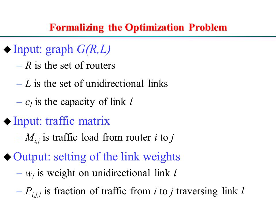 Formalizing the Optimization Problem