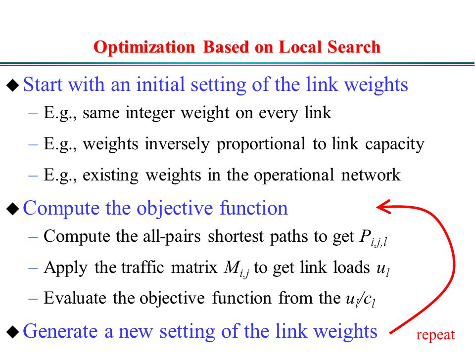 Optimization Based on Local Search