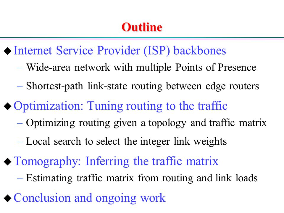 Internet Service Provider (ISP) backbones