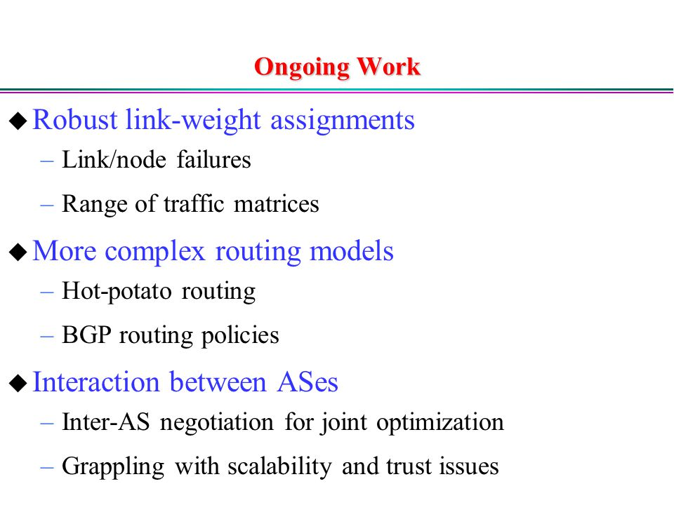 Robust link-weight assignments