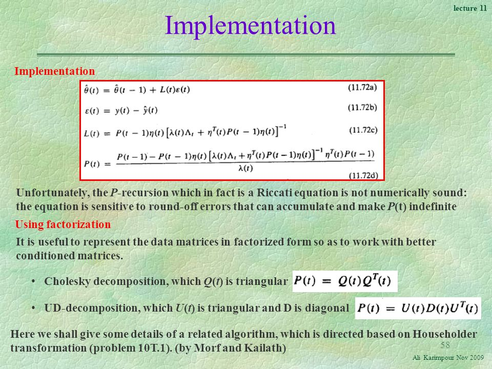 Implementation Implementation
